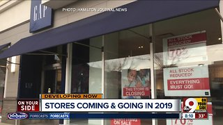 Stores coming and going in 2019