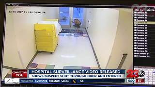 Video shows suspect shooting hospital door and entering with uno - Video