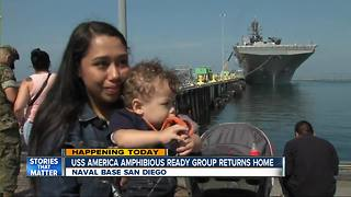 USS America Amphibious Ready Group returns home - Video