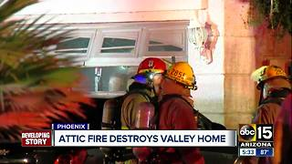 Attic fire destroys west Phoenix home - Video