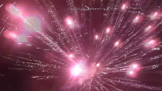 Drone Flies Above And Narrowly Avoids Fireworks