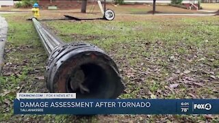 Tornado damage in Tallahassee