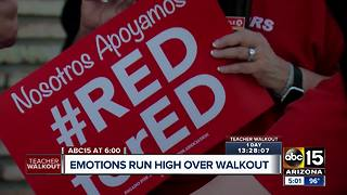 Emotions running high ahead of teacher walkout in Arizona - Video