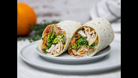 All-in-one oven chicken wrap recipe