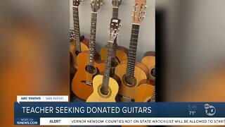 Grossmont H.S. teacher seeking donated guitars for students
