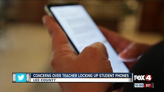 Concerns over teacher locking up student phones