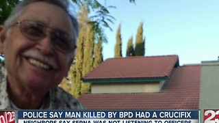 73-year-old killed by BPD had a crucifix - Video