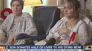 Rosedale son donates half of liver to his dying mom - Video