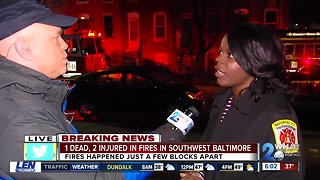 One dead, two injured in early morning Southwest Baltimore fire