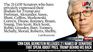 Senators that talk about President Trump behind his back