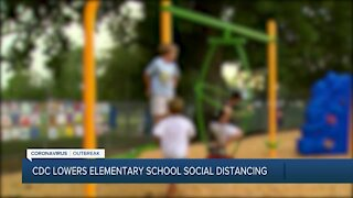 CDC lowers elementary school social distancing