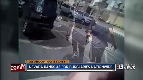 Nevada ranks 3rd for burglaries nationwide