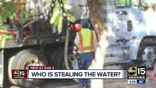 Construction company accused of stealing water from fire hydrant, but they say they're victims too - Video