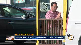 Hepatitis A outbreak in San Diego county worsens - Video