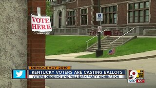 Kentucky voters casting ballots