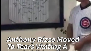 Anthony Rizzo Moved To Tears Visiting A Local Children's Hospital - Video