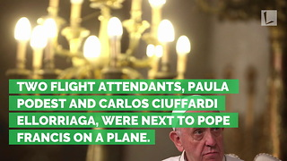 Pope Marries Flight Attendants on Plane after Church Destroyed - Video