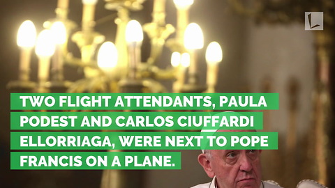 Pope Marries Flight Attendants on Plane after Church Destroyed