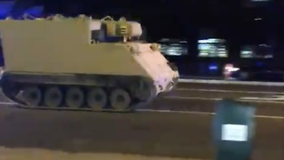 Stolen Armored Personnel Carrier Leads Police on Chase Through Richmond - Video
