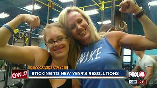 Sticking to new year's resolutions - Video