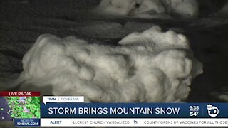 Winter storm coats mountain areas with snow