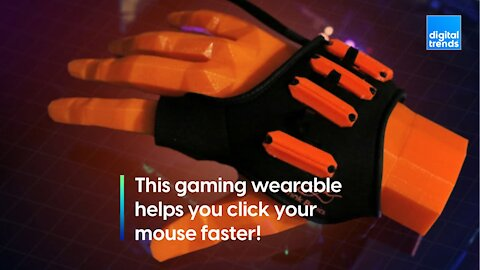 This bionic gaming wearable promises faster mouse clicks