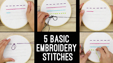 5 Easy Embroidery Stitches