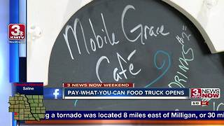 Pay-what-you-can food truck opens - Video