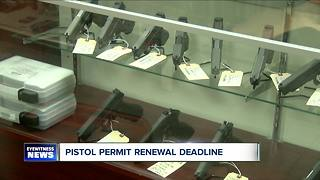 Deadline looming for pistol permits - Video