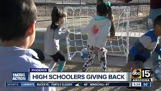 Valley high school students give back - Video