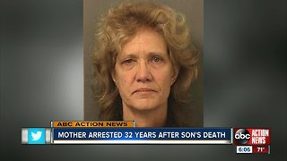 Florida woman arrested for son's death decades later
