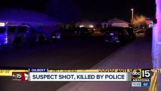 PD: Suspect dies in Gilbert officer-involved shooting - Video