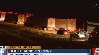 All Lanes of I-24 Reopen After Crash Causes Chemical Spill - Video