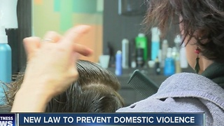New law empowers hairstylists to prevent domestic violence - Video