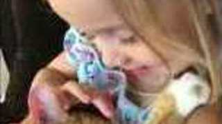 Little Girl Sings Sweet Lullaby to Her Sleepy Kitty - Video