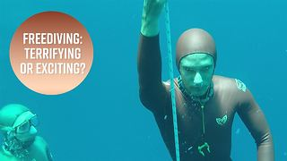 Would you jump into the deep blue world of freediving? - Video