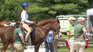 Riders with special needs compete at horse show near Bentleyville - Video