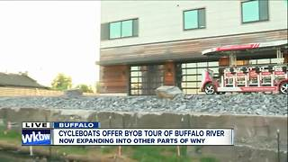 Buffalo CycleBoats expands on water partners up on land - Video