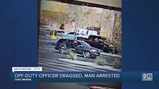 Man arrested after dragging off-duty Casa Grande police officer from car in parking lot