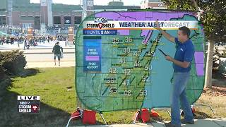 Cameron's Weather Roadshow at Packers vs. Rams preseason game - Video