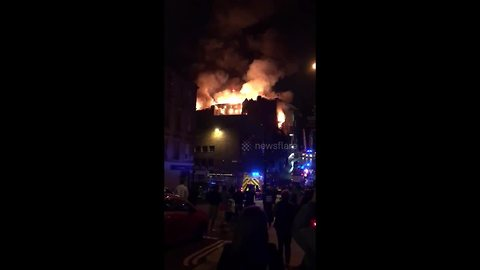 Glasgow School of Art goes up in flames