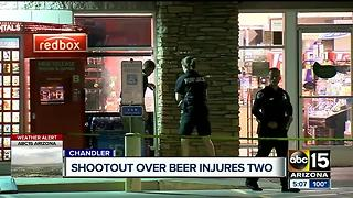 Shootout over alcohol injures two people in Chandler - Video