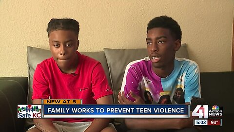 Family works to prevent teen violence