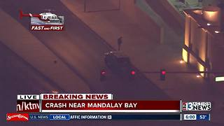 Crash near Mandalay Bay | Breaking news - Video