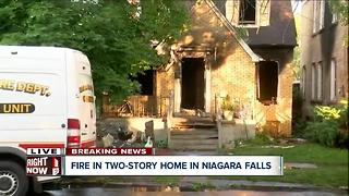 Niagara Falls house fire under investigation - Video