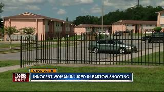 Innocent woman injured in Bartow shooting - Video