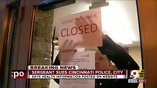 Sergeant sues Cincinnati police - Video