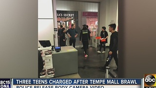 Woman at mall with daughter during AZ Mills Mall evacuation - Video