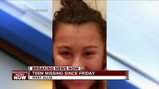 West Allis Police looking for missing 17-year-old girl - Video