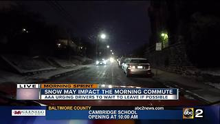 Ice and snow make a difficult morning commute